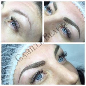 Microblading eyebrows semi permanent London