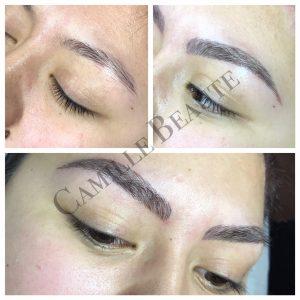 hair stroke eyebrows semi permanent makeup london