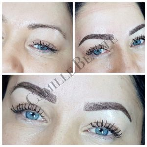 Microblading eyebrows semi permanent London 001