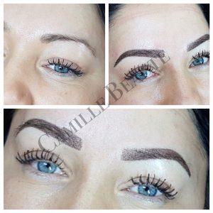Microblading eyebrows semi permanent London 001