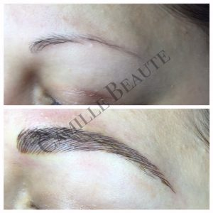 hair stroke eyebrows semi permanent eyebrows
