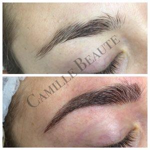 microblading eyebrows semi permanent makeup