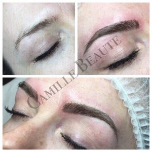 microblading eyebrows semi permanent makeup