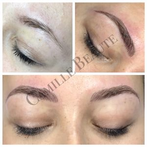 hair stroke eyebrows semi permanent makeup london