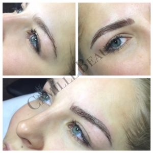 semi permanent eyebrow tattoo